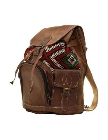 Läder och kilim ryggsäck