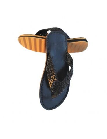 Mäns naturläder sandal