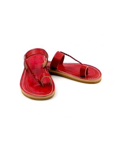 Sandale en cuir véritable...