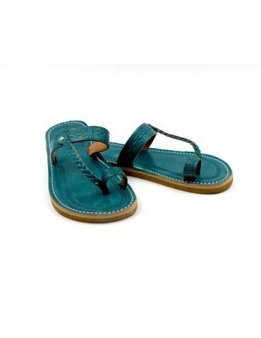 Handgjord äkta läder sandal