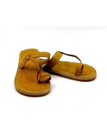 Sandale nu-pieds en cuir...