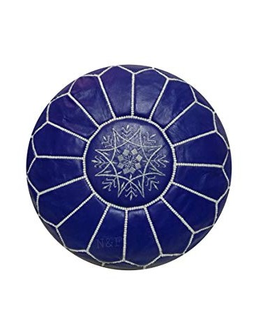 Pouf in real blue natural...