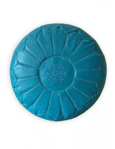 Handicraft Morocco blue pouffe