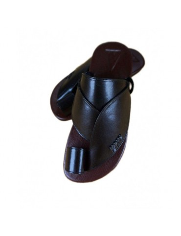 Sandale cuir naturel Noir