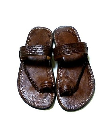Naturlæder sandaler