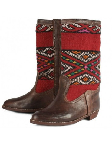 women's natural leather boot