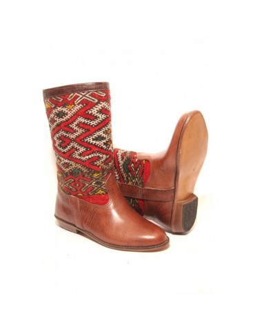 Morocco craft leather boot