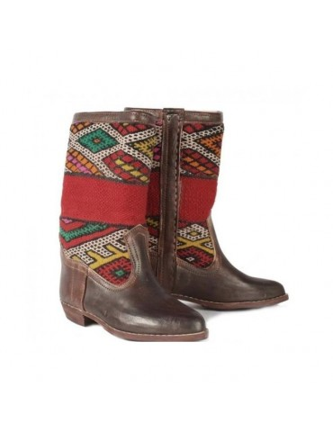 Genuine leather boot 100% handmade Moroccan craftsmanship