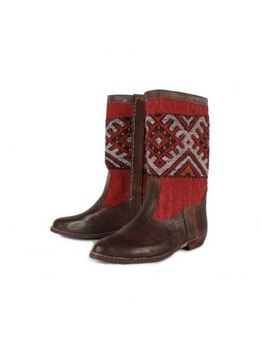 Genuine leather boot 100% handmade Moroccan craftsmanship
