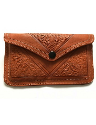 Wallet in real natural leather