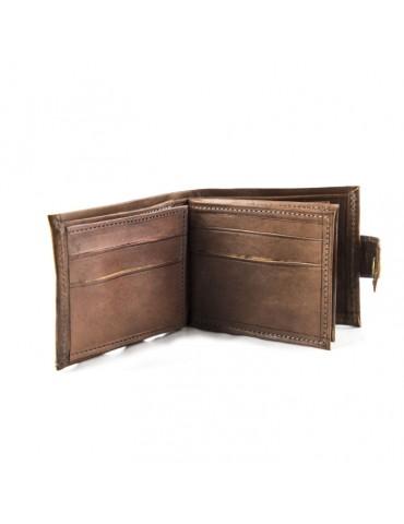Genuine leather purse Brown