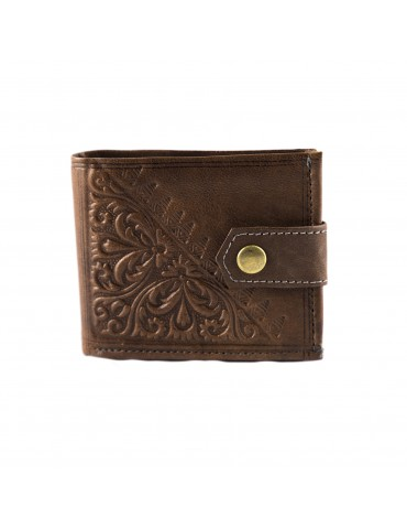 Genuine leather purse Brown