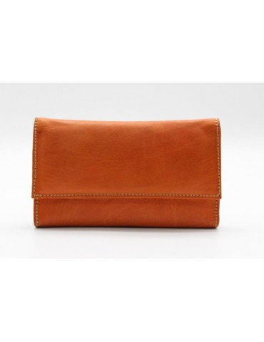 Brown leather purse with a...