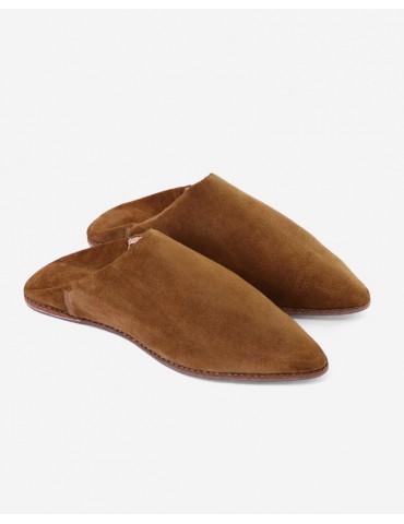 High-end äkta brunt läder...