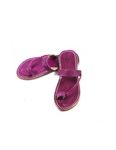 Sandalias de cuero natural