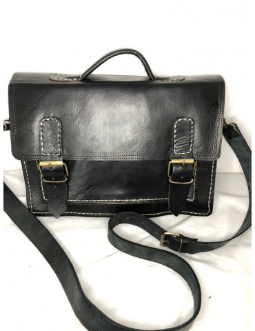 Handcrafted natural leather...