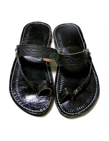 Sandales artisanales cuir