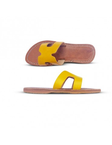 Women's natural leather sandal